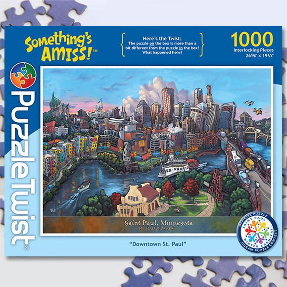 Downtown St. Paul 1000 Piece Puzzle Twist Jigsaw Puzzle - Quick Ship - Puzzlicious.com