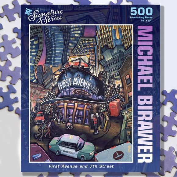 First Avenue and 7th Street 500 Piece Puzzle - Quick Ship - Puzzlicious.com