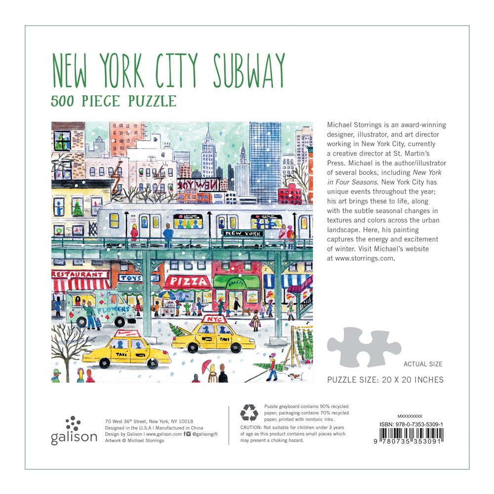 Michael Storrings New York City Subway 500 Piece Puzzle - Quick Ship - Puzzlicious.com