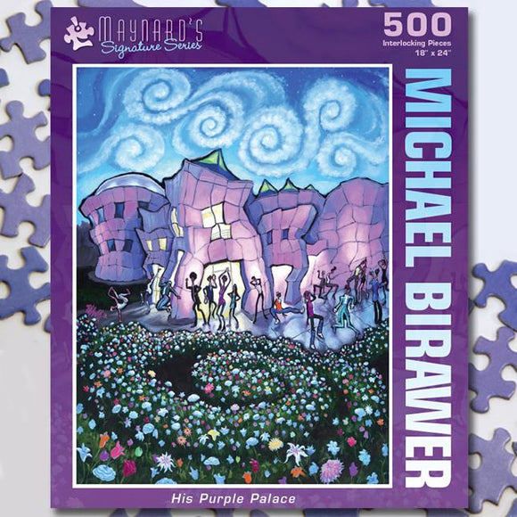 His Purple Palace 500 Piece Puzzle Twist Jigsaw Puzzle - Quick Ship - Puzzlicious.com