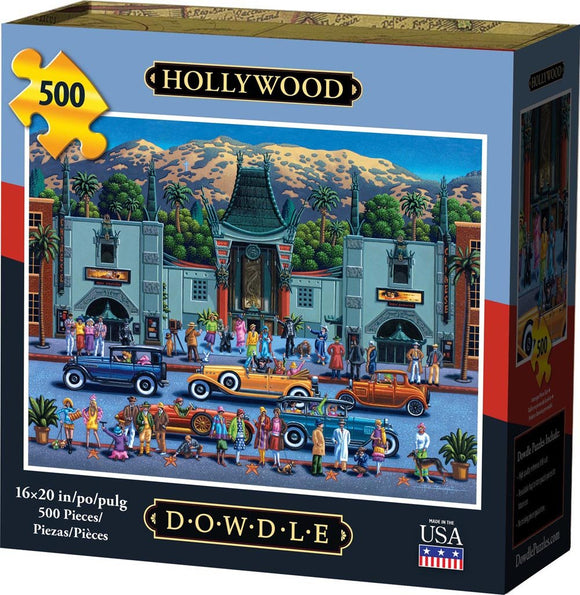 Hollywood 500 Piece Puzzle - Quick Ship - Puzzlicious.com