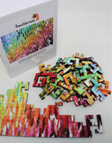 Geometric Style Wooden Puzzle - Designer Stripes 50 Piece Puzzle - Quick Ship