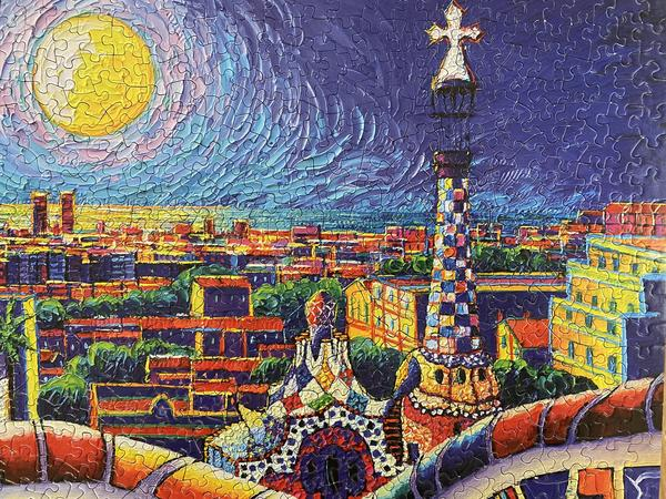Magical Barcelona Night 1000 Piece Puzzle - Quick Ship - Puzzlicious.com