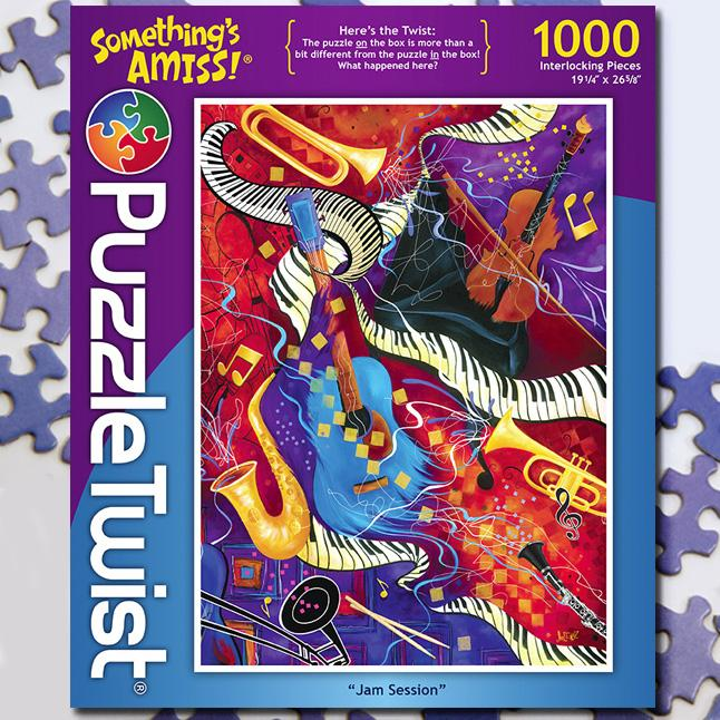 Jam Session 1000 Piece Puzzle Twist Jigsaw Puzzle - Quick Ship - Puzzlicious.com