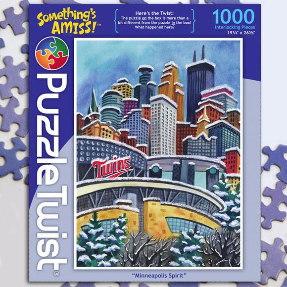Minneapolis Spirit 1000 Piece Puzzle Twist Jigsaw Puzzle - Quick Ship - Puzzlicious.com