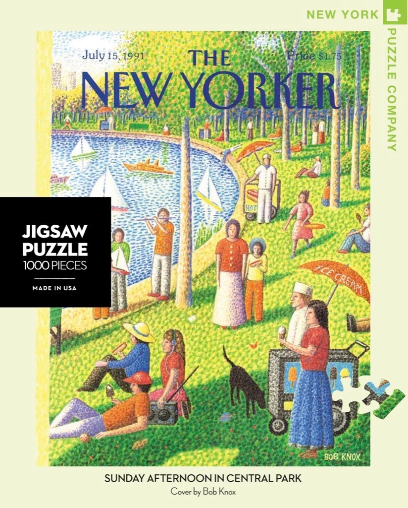Sunday Afternoon in Central Park 1000 Piece Puzzle - Quick Ship - Puzzlicious.com