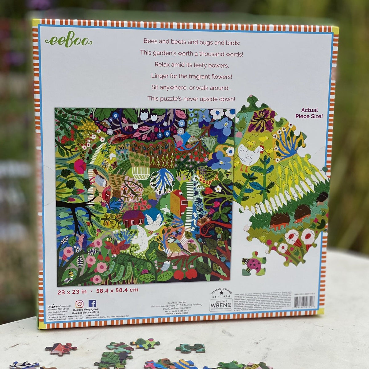 Bountiful Garden 1000 Piece Puzzle - Quick Ship - Puzzlicious.com