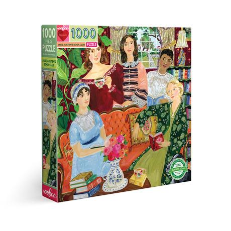 Jane Austen's Book Club 1000 Piece Round Puzzle - Quick Ship - Puzzlicious.com