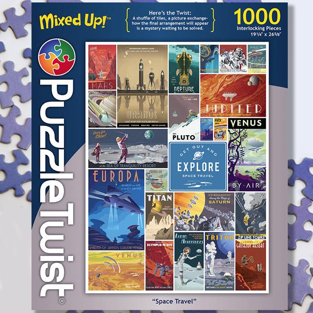 Space Travel 1000 Piece Puzzle Twist Jigsaw Puzzle - Quick Ship - Puzzlicious.com