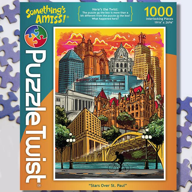 Stars Over St. Paul 1000 Piece Puzzle Twist Jigsaw Puzzle - Quick Ship - Puzzlicious.com