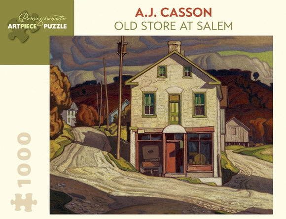 A.J. Casson: Old Store at Salem 1000 Piece Jigsaw Puzzle - Quick Ship - Puzzlicious.com