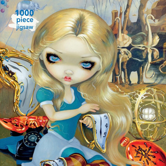 Jasmine Becket-Griffith: Alice in a Dali Dream 1000 Piece Jigsaw Puzzle - Quick Ship - Puzzlicious.com