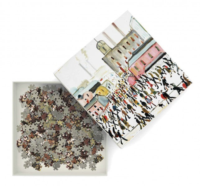 L.S. Lowry: Going to Work 1000 Piece Jigsaw Puzzle - Quick Ship - Puzzlicious.com