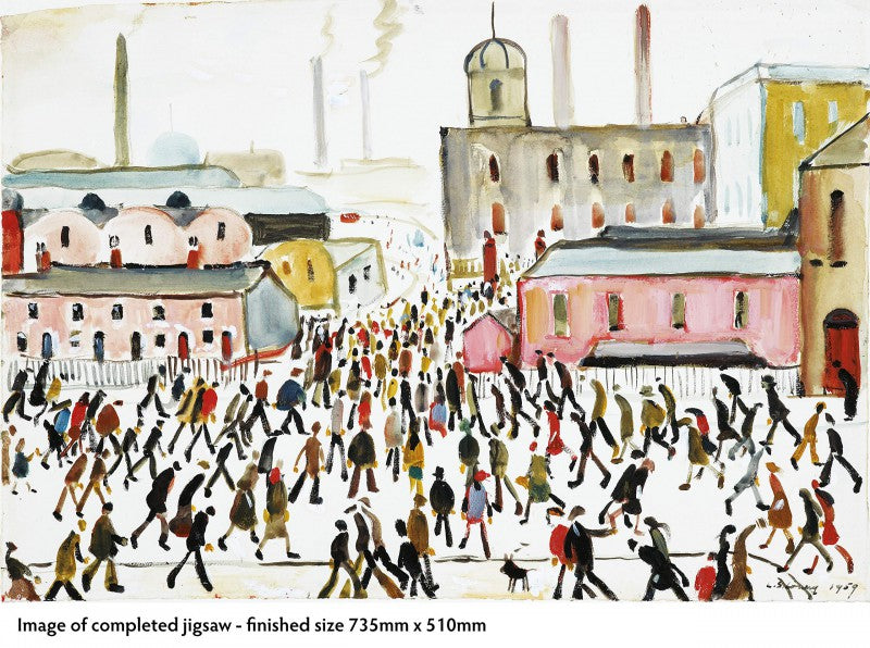 L.S. Lowry: Going to Work 1000 Piece Jigsaw Puzzle - Puzzlicious.com