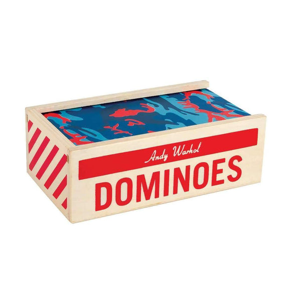 Andy Warhol Wooden Dominoes Set - Puzzlicious.com