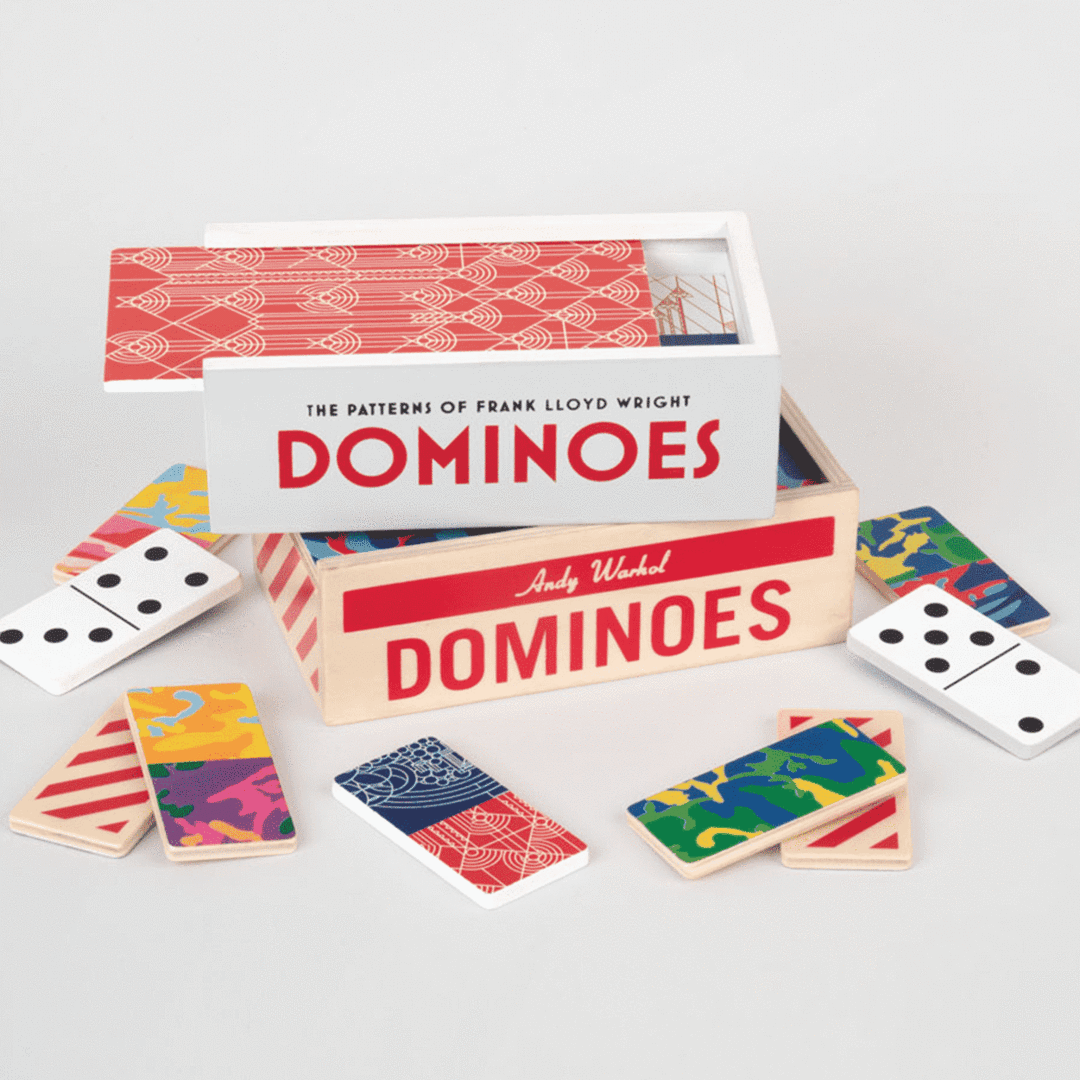 Andy Warhol Wooden Dominoes Set - Quick Ship - Puzzlicious.com