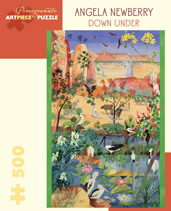 Angela Newberry: Down Under 500 Piece Jigsaw Puzzle - Quick Ship - Puzzlicious.com