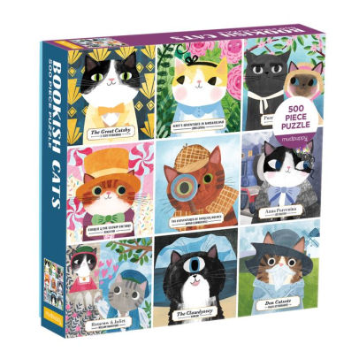 Bookish Cats 500 Piece Puzzle - Quick Ship - Puzzlicious.com