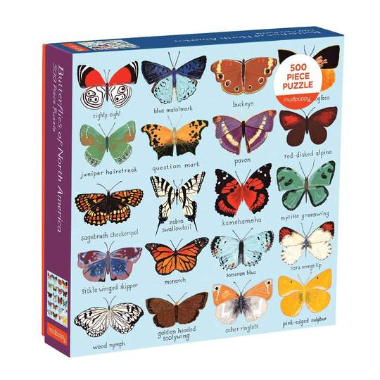 Butterflies of North America 500 Piece Family Puzzle - Puzzlicious.com