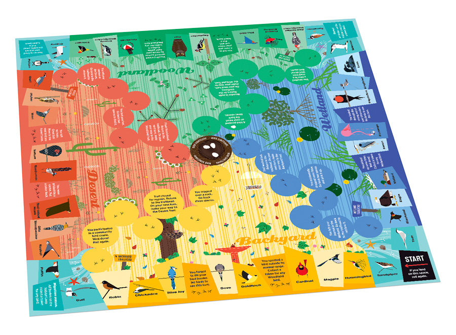 Charley Harper's Spot the Birds Board Game - Puzzlicious.com