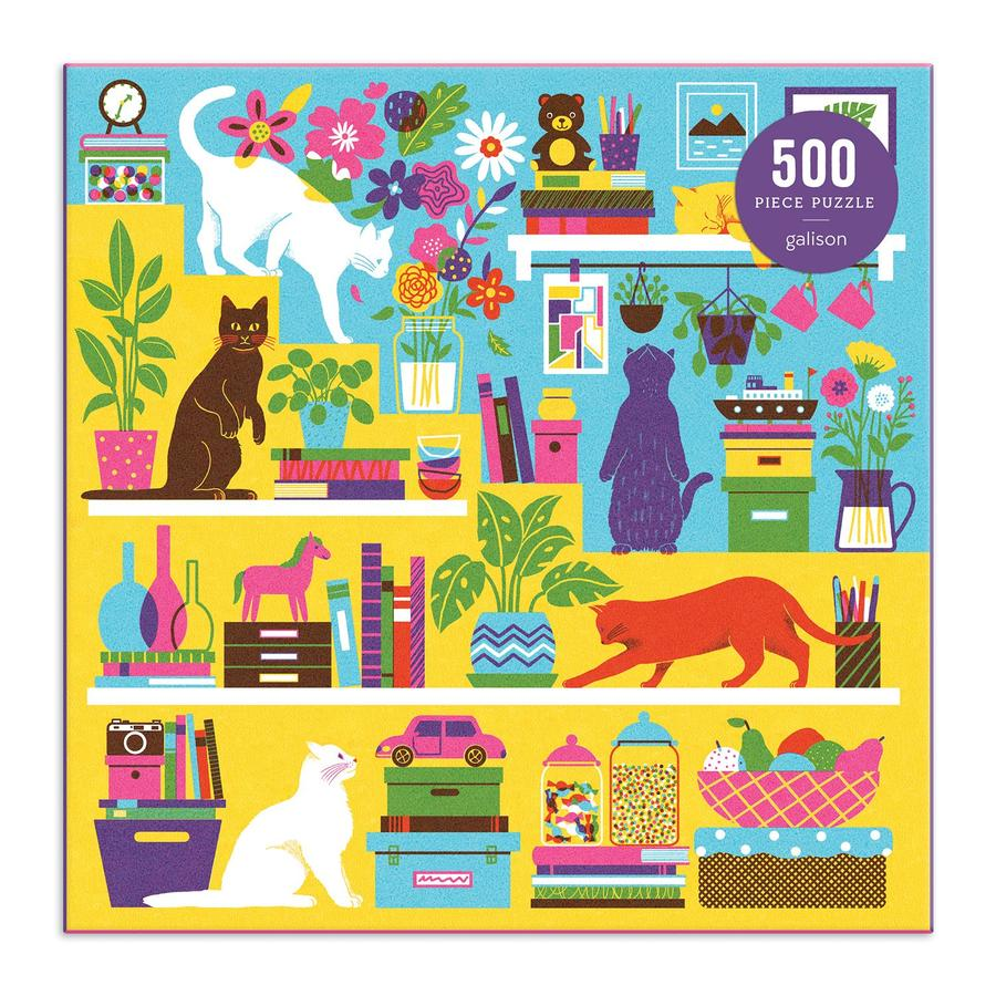 Curious Cats 500 Piece Puzzle - Quick Ship - Puzzlicious.com