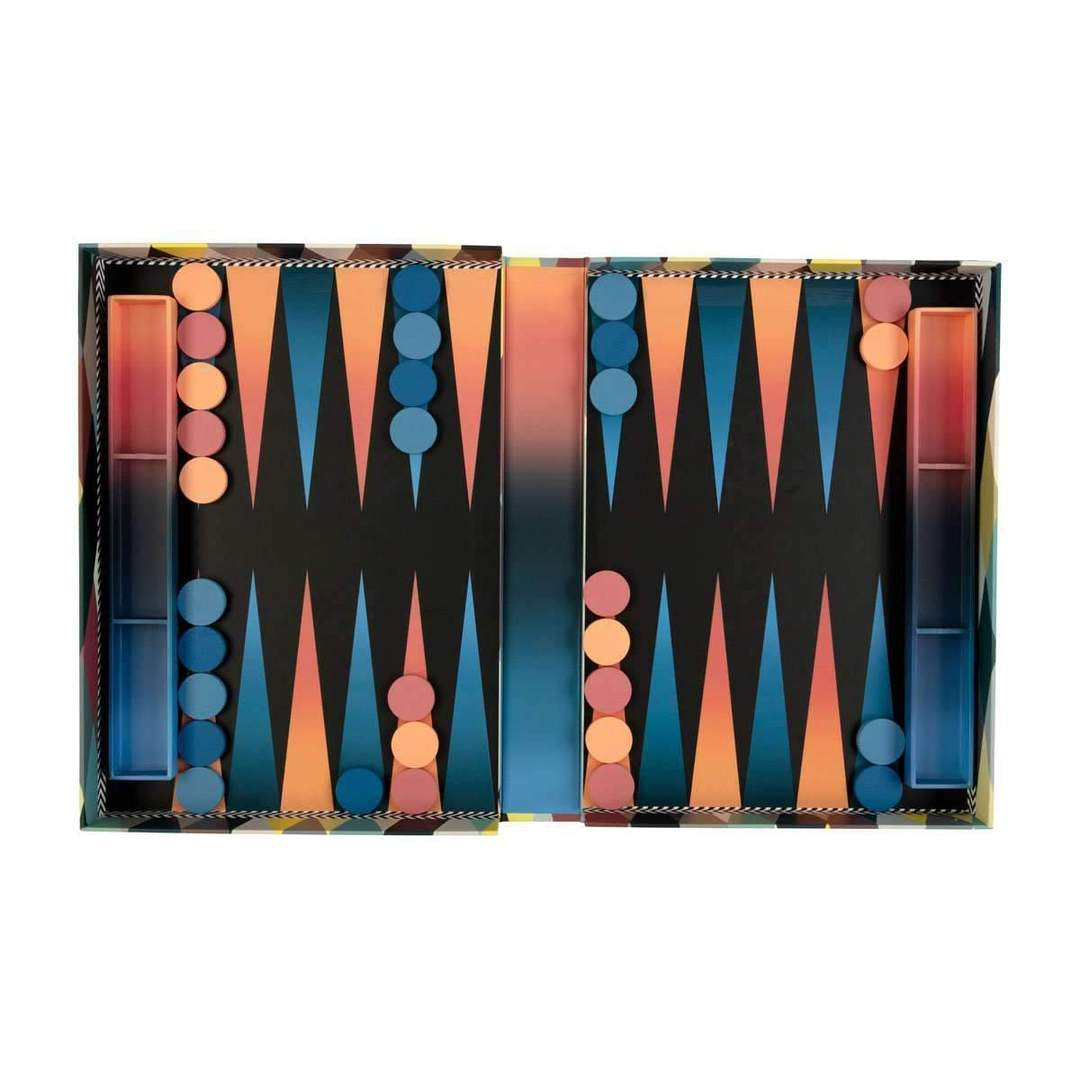 Christian Lacroix Dangerous Game Backgammon Set - Quick Ship - Puzzlicious.com