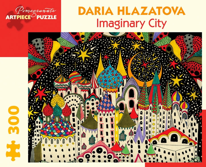 Daria Hlazatova: Imaginary City 300 Piece Jigsaw Puzzle - Quick Ship - Puzzlicious.com