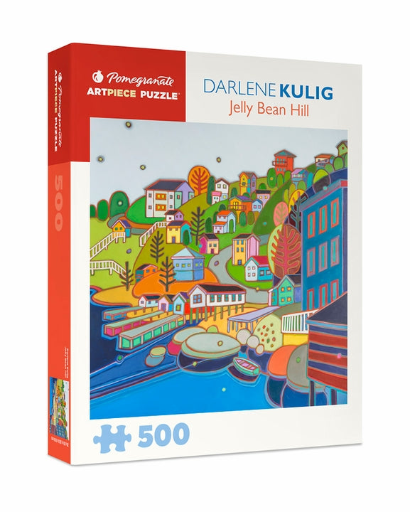 Darlene Kulig: Jelly Bean Hill 500 Piece Jigsaw Puzzle - Quick Ship - Puzzlicious.com