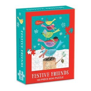 Festive Friends 130 Piece Mini Jigsaw Puzzle - Quick Ship - Puzzlicious.com