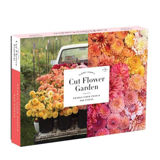 Floret Farm's Cut Flower Garden 500 Piece Double-Sided Puzzle - Quick Ship