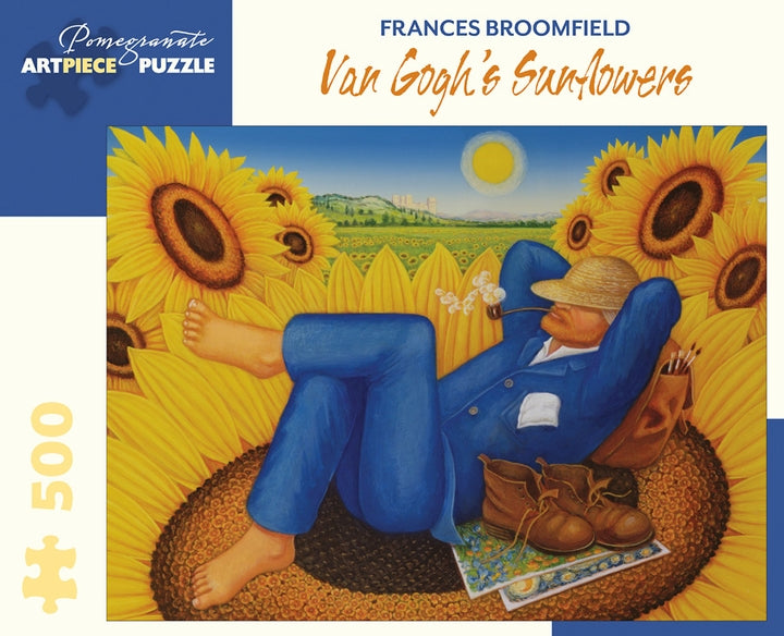 Frances Broomfield: Van Gogh's Sunflowers 500 Piece Jigsaw Puzzle - Quick Ship - Puzzlicious.com