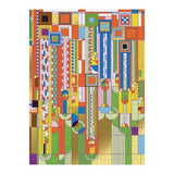 Frank Lloyd Wright Saguaro Cactus and Forms 1000 Piece Gold Foil Puzzle - Quick Ship - Puzzlicious.com