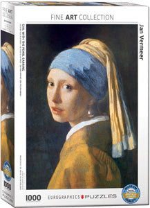 Vermeer Girl with the Pearl Earring 1000 Piece Puzzle - Quick Ship - Puzzlicious.com
