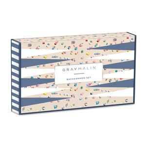 Gray Malin The Beach Backgammon Set - Quick Ship