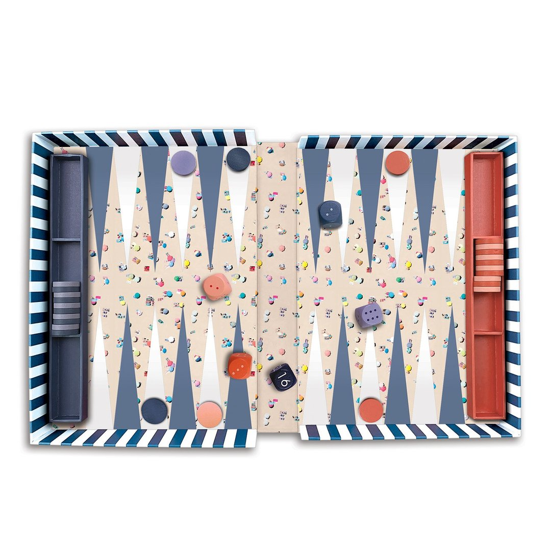 Gray Malin The Beach Backgammon Set - Quick Ship - Puzzlicious.com