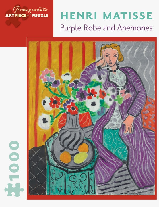 Henri Matisse: Purple Robe and Anemones 1000 Piece Jigsaw Puzzle - Quick Ship - Puzzlicious.com