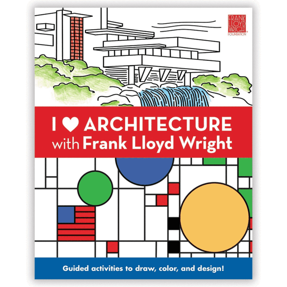 I Heart Architecture Cooper with Frank Lloyd Wright Activity Book - Quick Ship - Puzzlicious.com