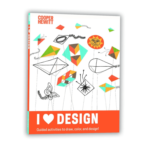 I Heart Design Cooper Hewitt Activity Book - Quick Ship