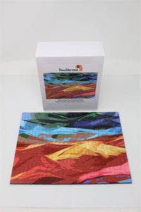 Geometric Style Wooden Puzzle - Mountains 50 Piece Puzzle - Quick Ship - Puzzlicious.com