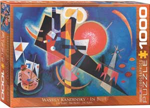 Kandinsky In Blue 1000 Piece Puzzle - Quick Ship - Puzzlicious.com