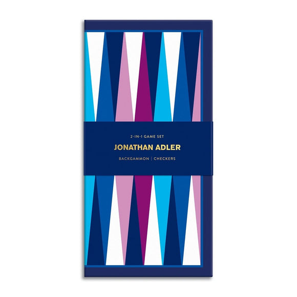 Jonathan Adler 2-in-1 Travel Game Set - Quick Ship