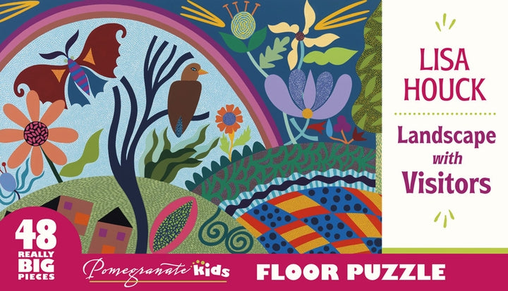 Lisa Houck: Landscape with Visitors 48 Piece Floor Puzzle - Quick Ship - Puzzlicious.com
