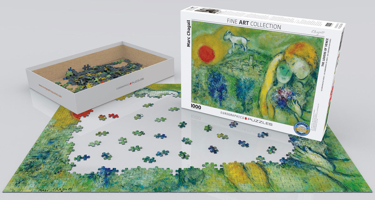 Chagall's The Lovers of Venice 1000 Piece Puzzle - Quick Ship - Puzzlicious.com