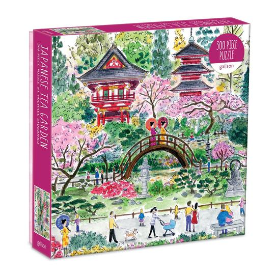 Michael Storrings Japanese Tea Garden 300 Piece Puzzle - Quick Ship