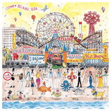 Michael Storrings Summer at the Amusement Park 500 Piece Puzzle - Quick Ship - Puzzlicious.com