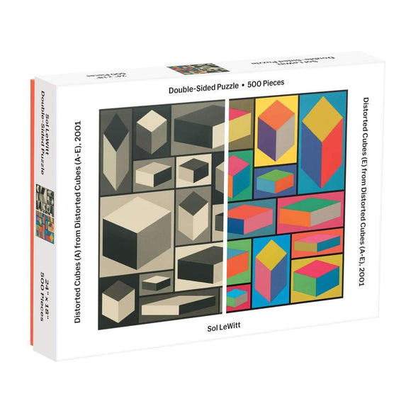 MOMA Sol Lewitt Distorted Cubes 2-Sided 500 Piece Puzzle - Quick Ship