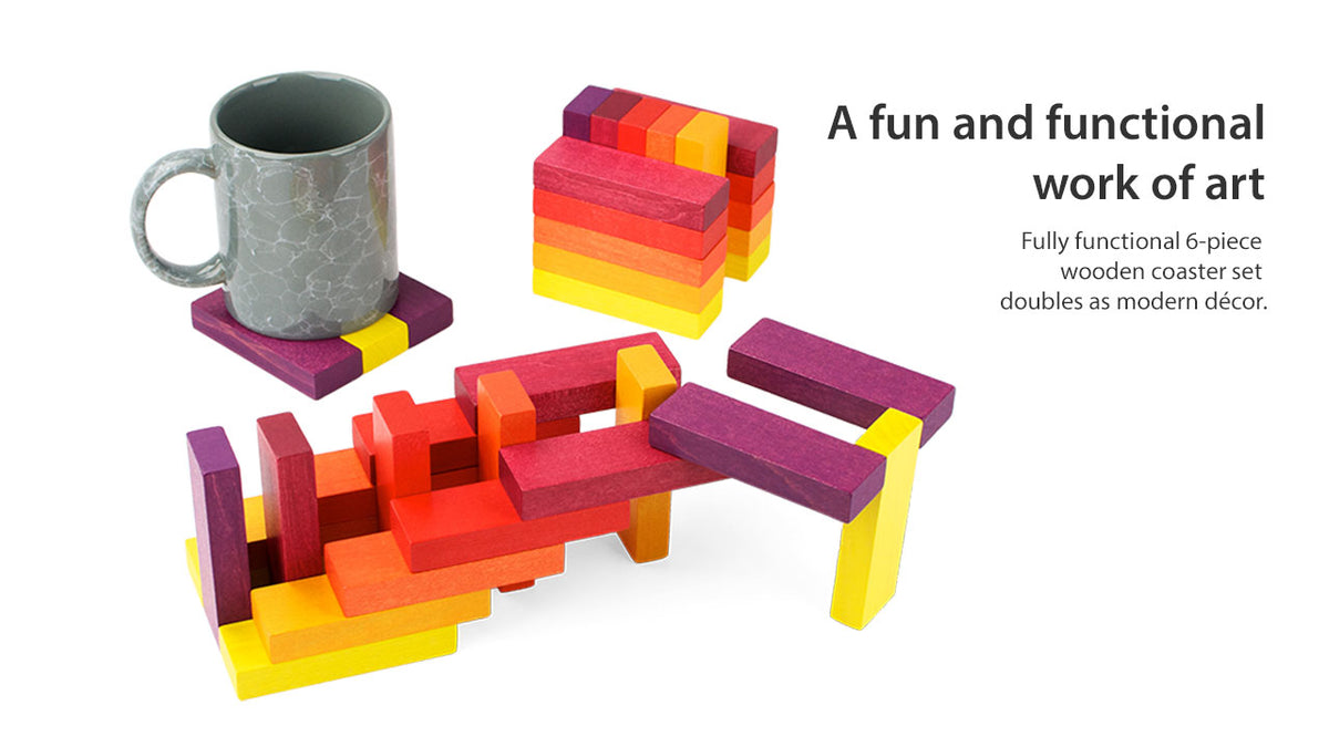 Playable ART Coaster Cube - Puzzlicious.com
