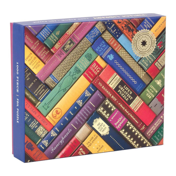 Phat Dog Vintage Library 1000 Piece Foil Stamped Puzzle - Quick Ship