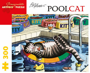 B. Kliban: PoolCat 300 Piece Jigsaw Puzzle - Quick Ship - Puzzlicious.com
