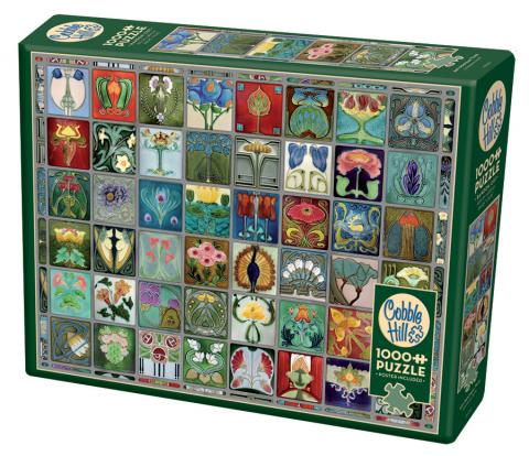 Art Nouveau Tiles 1000 Piece Puzzle - Quick Ship - Puzzlicious.com